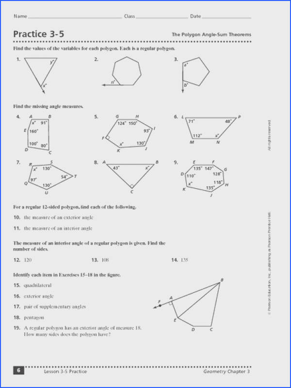 Worksheet Triangle Sum And Exterior Angle Theorem Worksheets for all Download and Worksheets