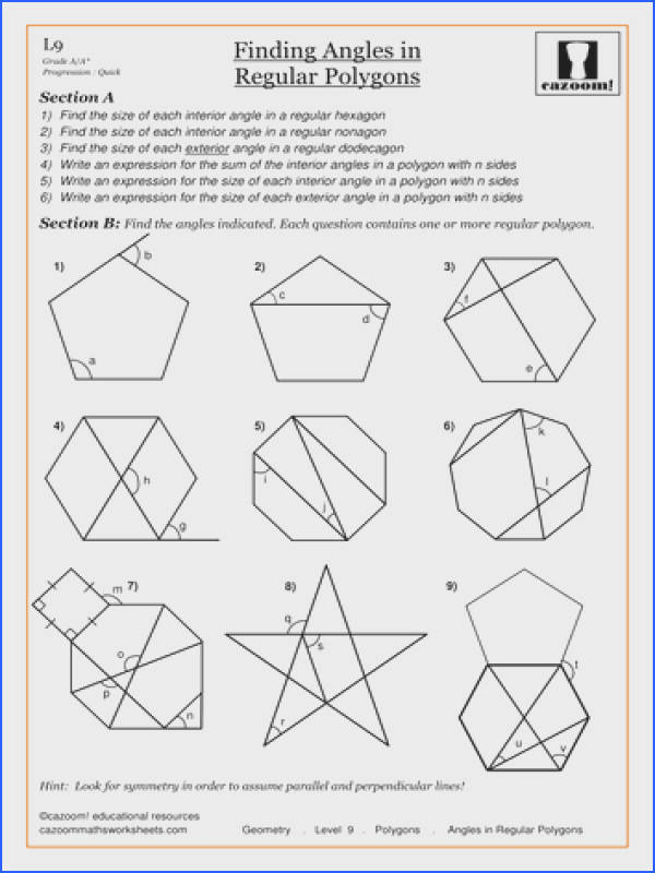 Confortable Worksheets Angles In Polygons With Angles In Polygons By Cazoommaths Teaching Resources Tes