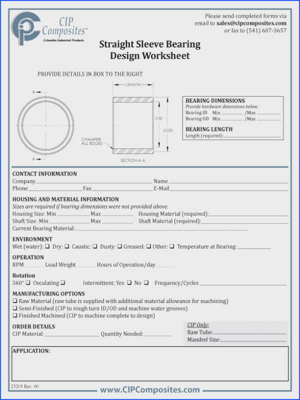 Design Worksheets