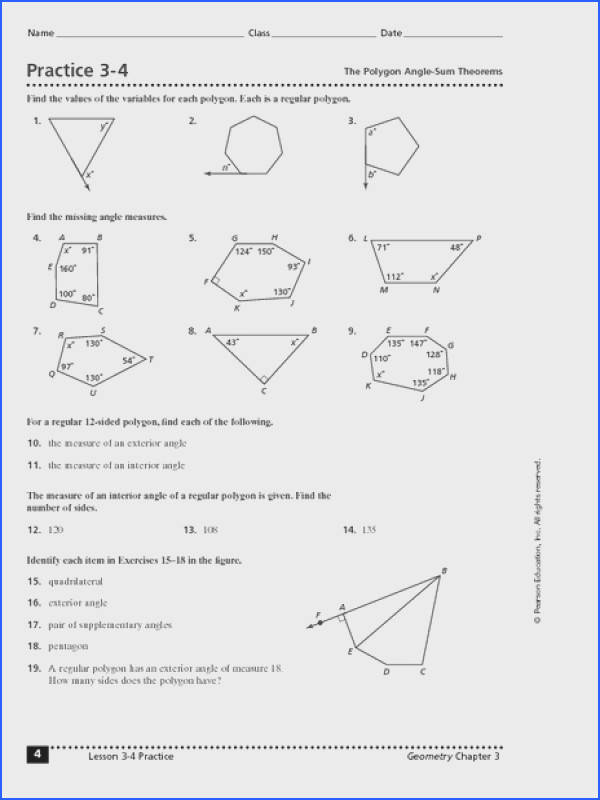 Enchanting Worksheets Exterior Angles Polygons For Your Polygon Interior Angles Worksheet Free Worksheets
