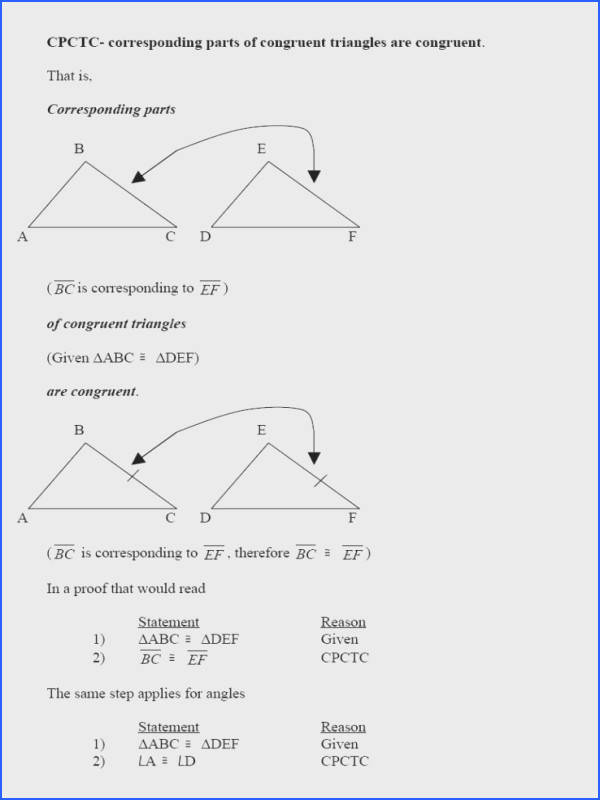 Geometry Worksheet Congruent Triangles Asa And Aas Answers