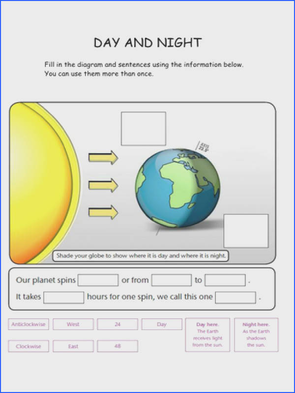 Worksheets for Day and Night Solar Eclipse and a PowerPoint presentation about them Great