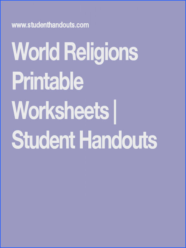 World Religions Printable Worksheets Student Handouts