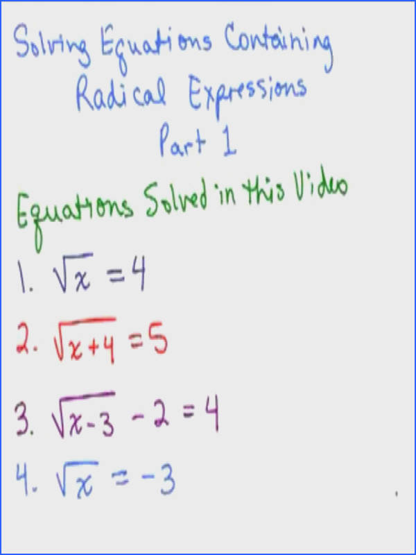 Quadratic equations homework help MathVids
