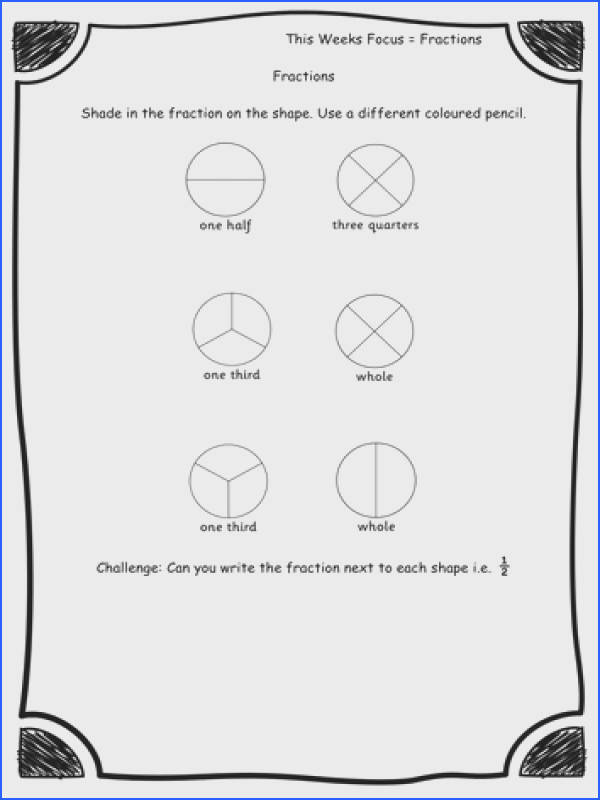 Year 2 Fractions Fraction of shape Worksheets Differentiated Editable