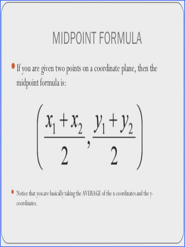 1 3 midpoint and distance formulas