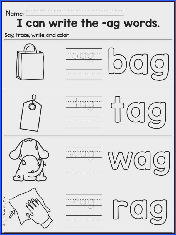 CVC Worksheets and Activities Short A Word Work