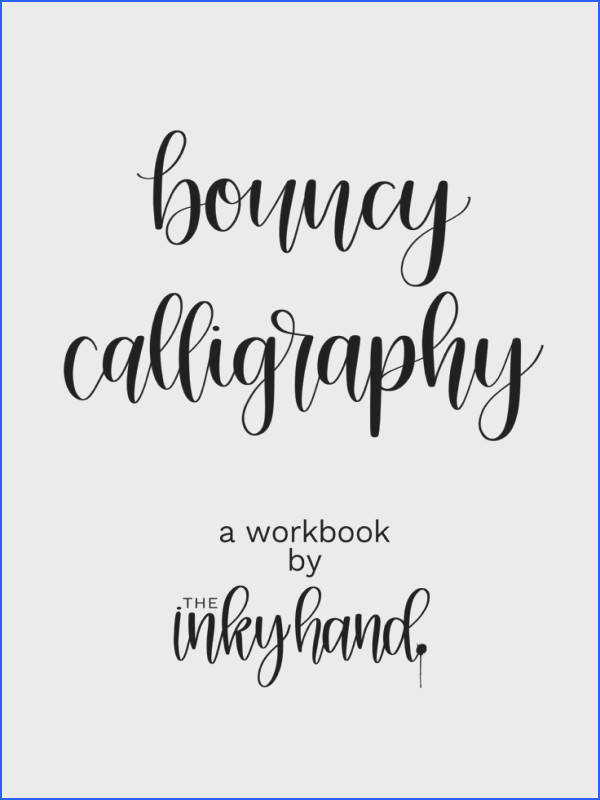 The Bouncy Calligraphy Workbook is Here Basic CalligraphyCalligraphy Cards Calligraphy Practice Sheets