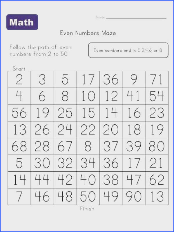 even numbers maze