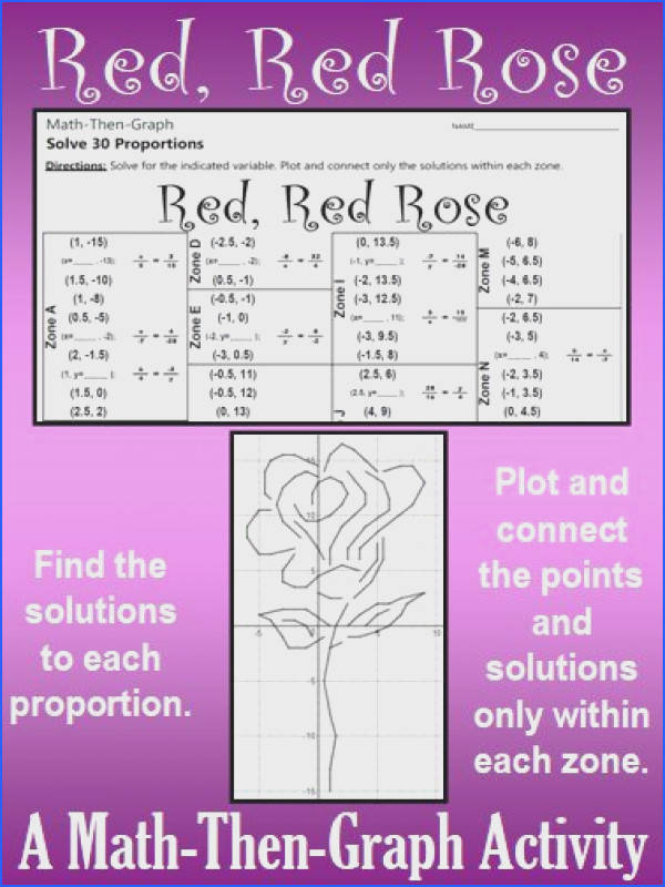 Red Red Rose A Math Then Graph Activity Solving Proportions