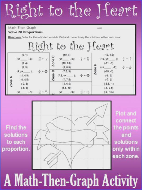 Right to the Heart A Math Then Graph Activity Solving Proportions