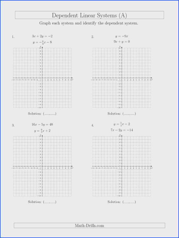 New Solve Systems of Linear Equations by Graphing Mixed Standard and Slope Intercept A Math Worksheet