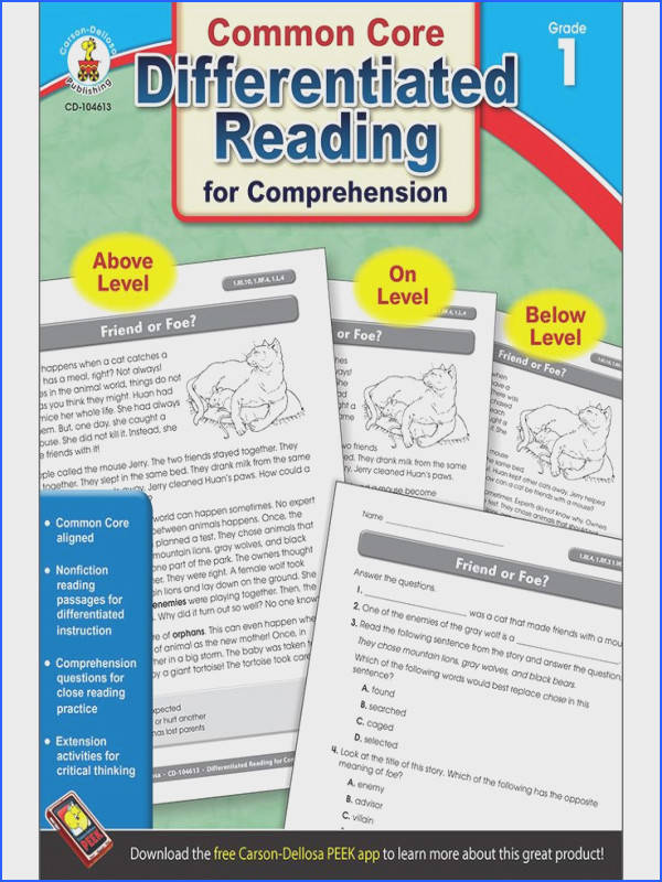 Differentiated Reading for prehension is designed to provide high interest nonfiction reading success for