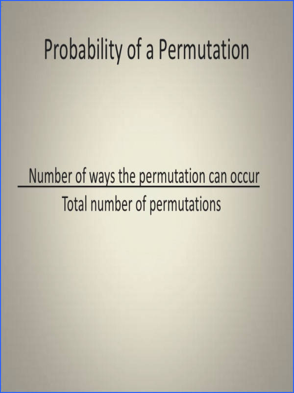 11 5 Probability with Fundamental Counting Principles Permutation and bination