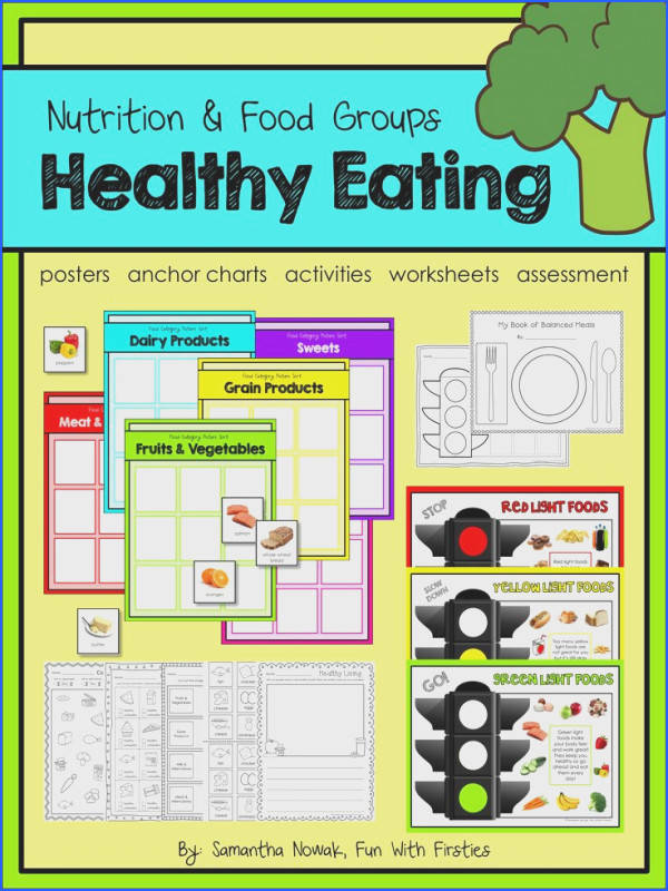 An entire unit all about Healthy Eating features posters anchor chart and pocket chart
