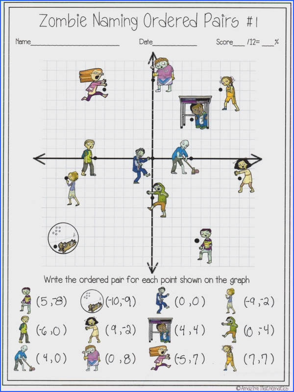 My Math students will love this zombie naming ordered pairs activity Its the perfect way