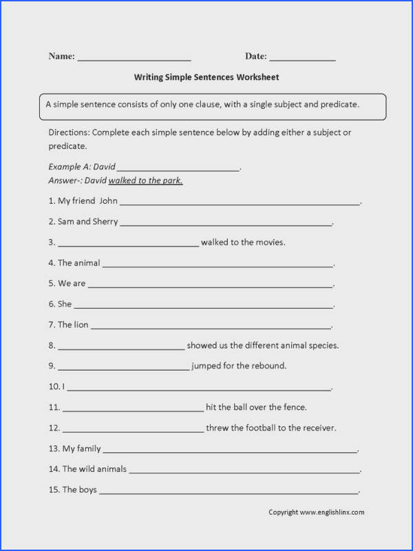 Image result for phonic worksheets for sentence building 4th grade reading level