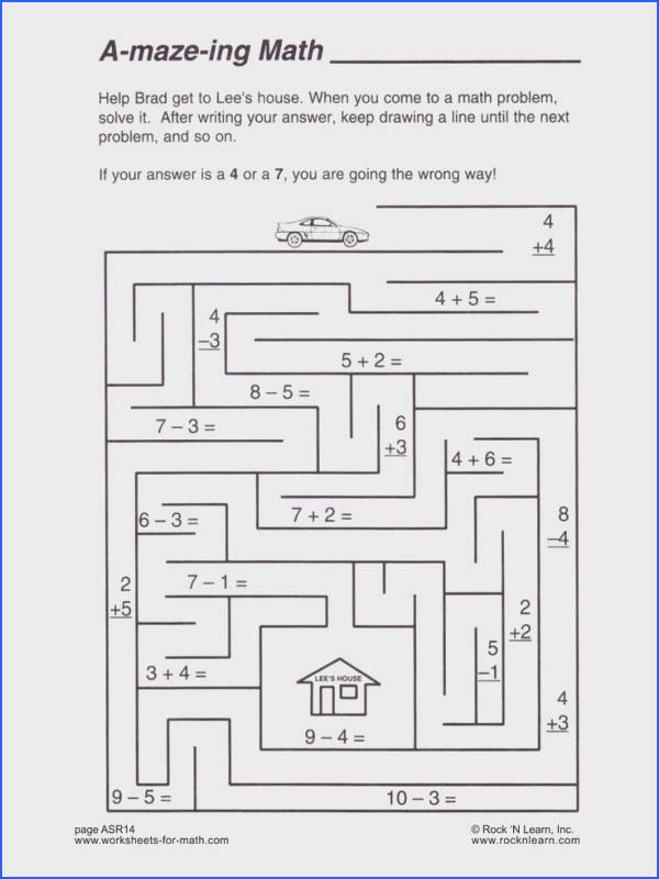 Here s A Fun Worksheet To Practice Your Math Skills Help Brad to Lee s house