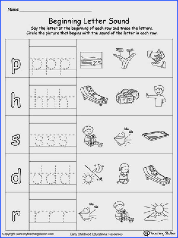 Trace and Match Beginning Letter Sound AY Words