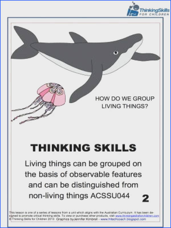 How Do We Group Living Things – Science 21 pages of activities and guidance notes exploring the characteristics of living things Australian Curriculum No