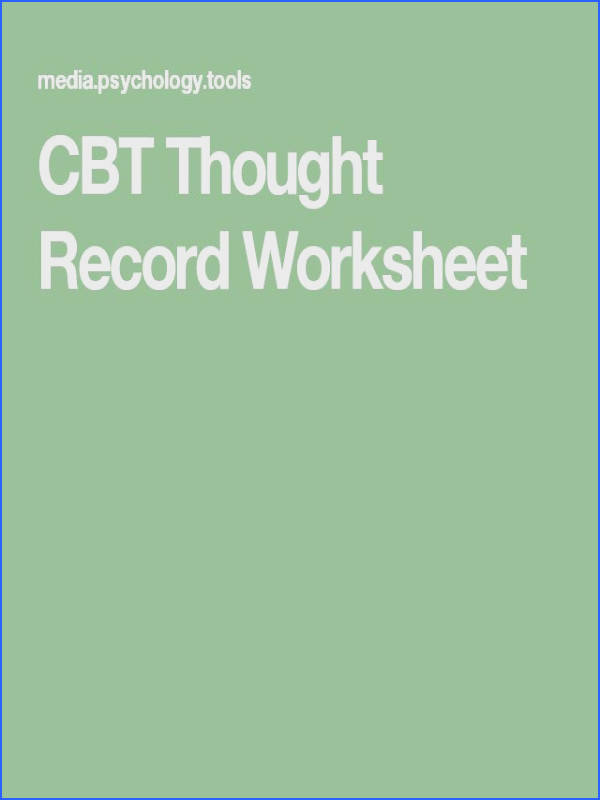 CBT Thought Record Worksheet