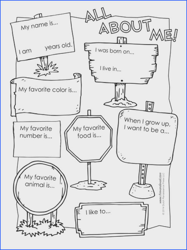 """An """"All About Me"""" worksheet for elementary school classrooms"""