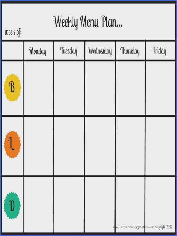 Meal Planning Free Printable