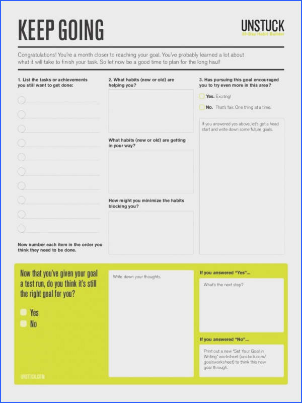 Step 13 Keep momentum going with this goal assessment worksheet