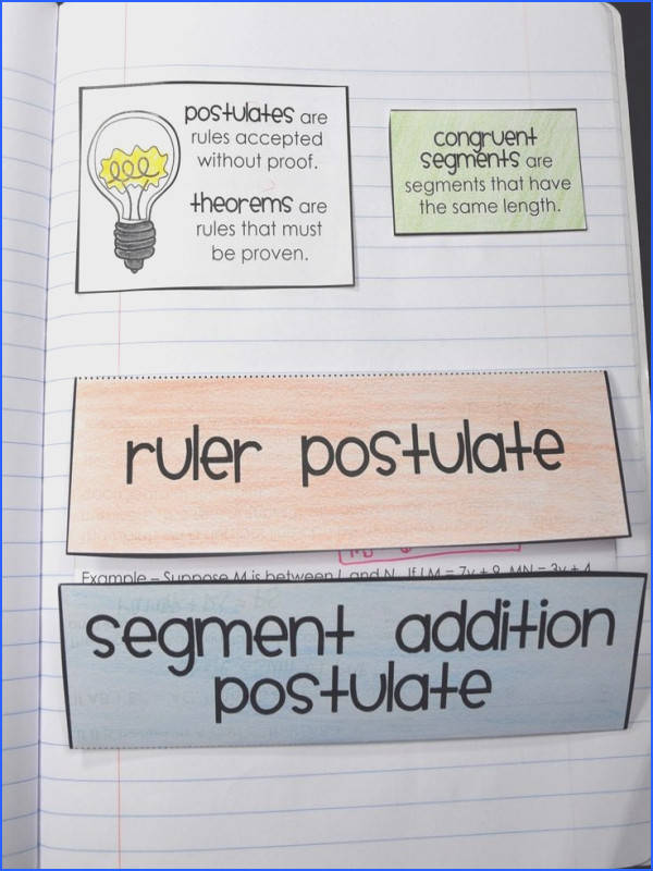 Ruler Postulate and Segment Addition Postulate Foldable for Geometry Interactive Notebooks