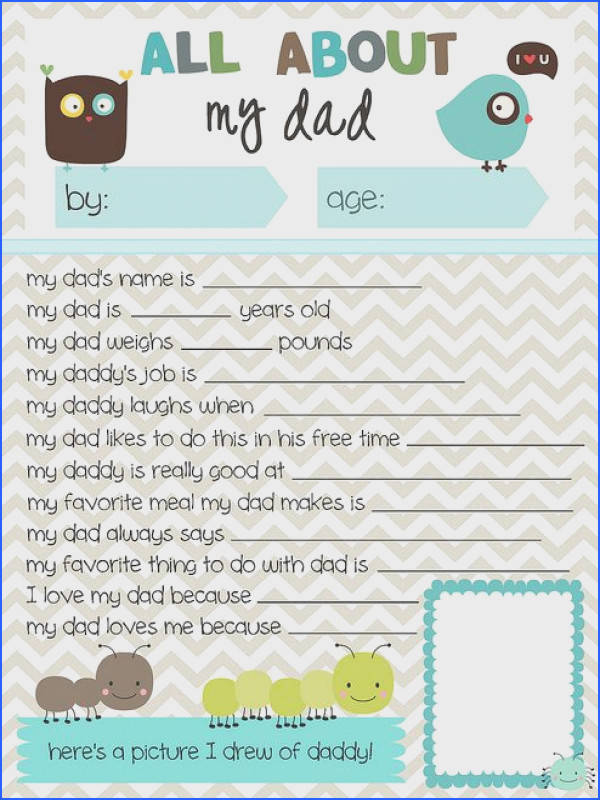 Free Printable Father s Day Questionnaire from Meet the Dubiens