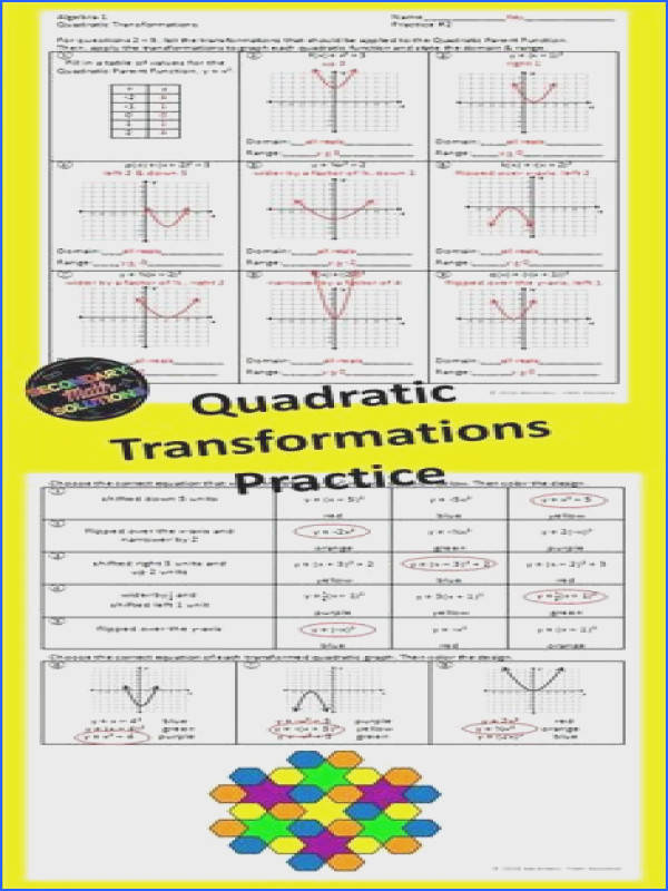 Domain and Range Graphs Worksheet Answers New Functions Domain & Range Function Notation Practice 8