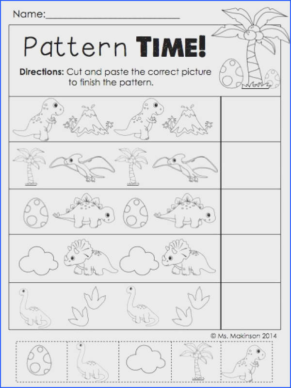 Dinosaur Literacy and Math Activities Dinosaur Preschool ActivitiesDinosaur WorksheetsDinosaur