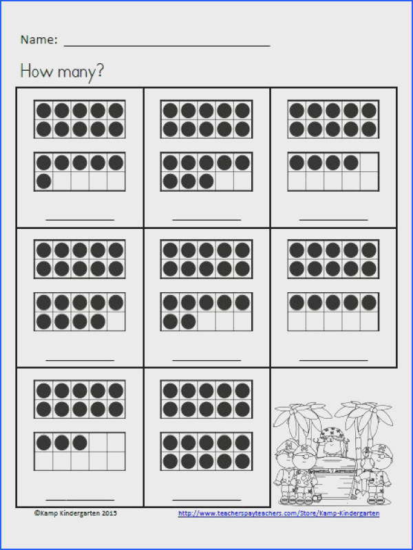 Tricky Teens Numbers ARGHHHH no problem for your little learners with Pirate Pals Ten Frames No