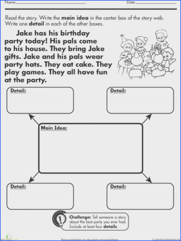 Main Idea and supporting details 2nd Grade