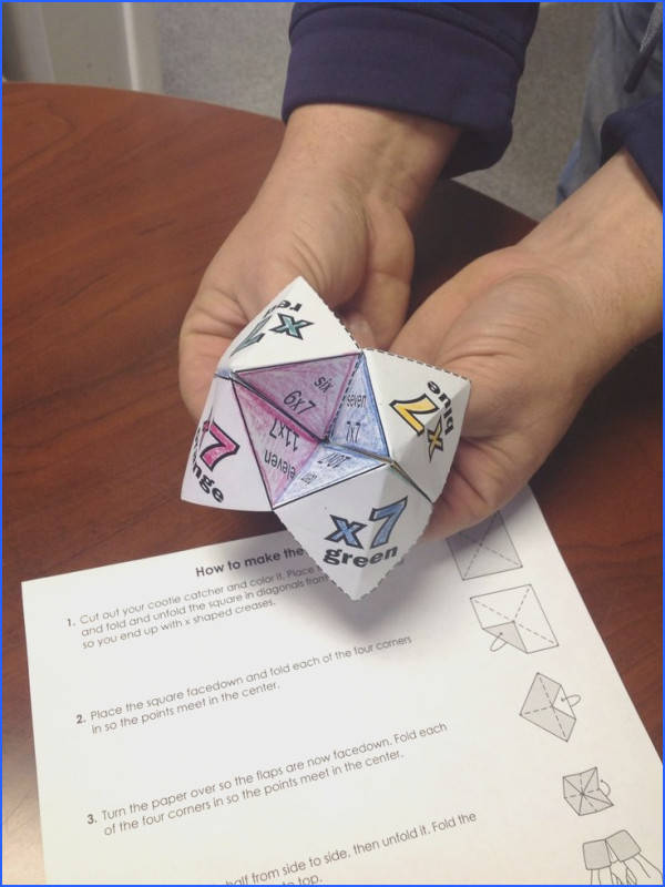 Super Teacher Worksheets has a large selection of origami cootie catchers to help make learning fun