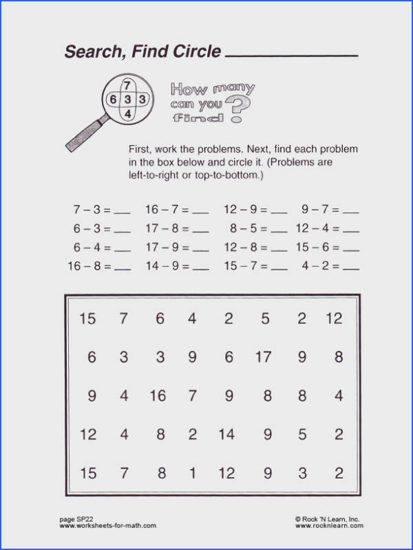 Free worksheet from Worksheets for math by Rock N Learn Free Addition Worksheets Free Subtraction Worksheets Free Math Worksheets Addition Facts