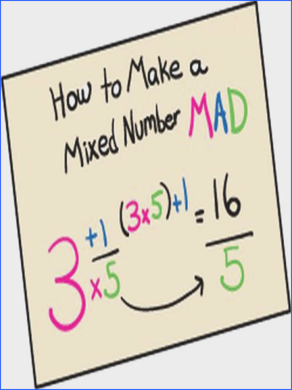 """""""How to Make a Mixed Number MAD"""" [changing mixed number to improper fraction"""
