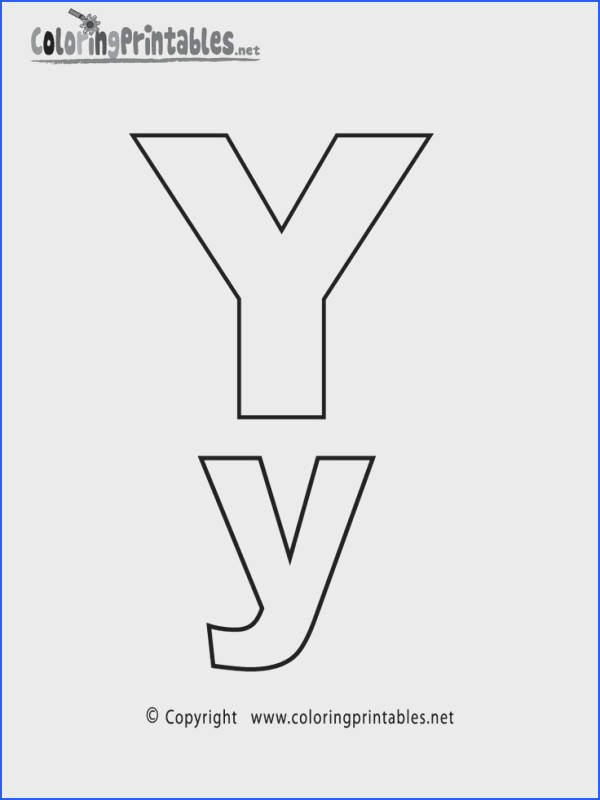 Alphabet Letter Y Coloring Page A Free English Coloring Printable