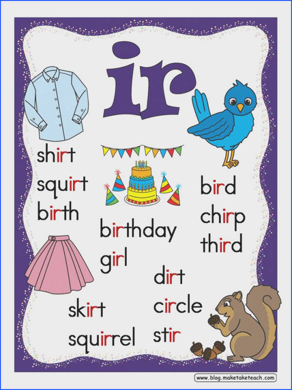 FREE R controlled vowels posters