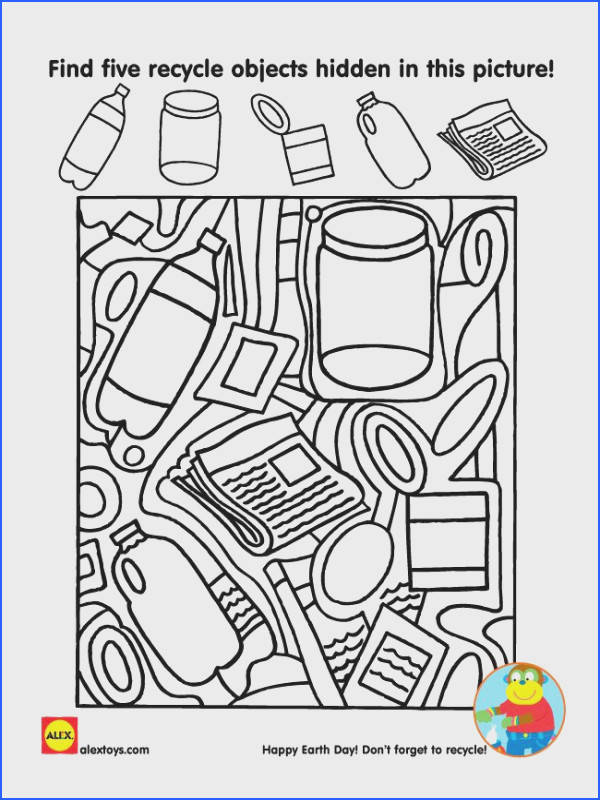 Use our free Earth Day printable to start a discussion on recycling in your home