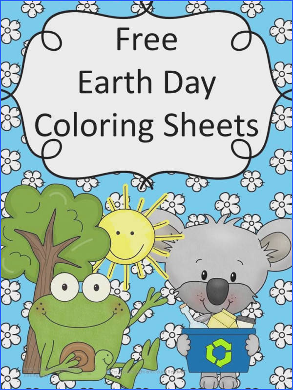 Free Earth Day Coloring Sheets for Preschool or Kindergarten