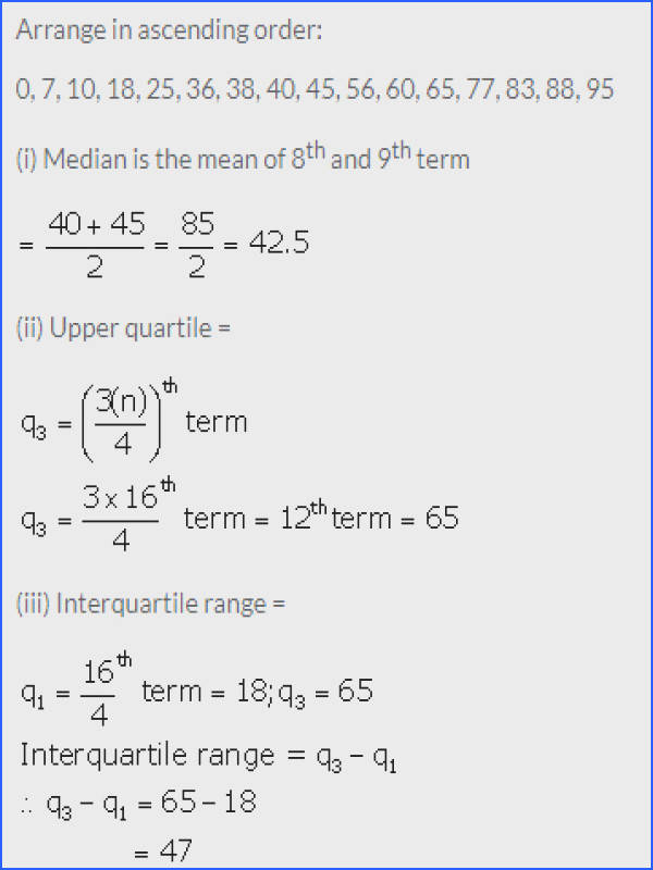 Mean Mode Median and Range Worksheet Answers Inspirational Selina Icse solutions for Class 10 Maths Measures