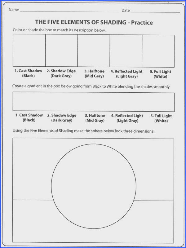 value scale gra nt and shaded form all in one worksheet