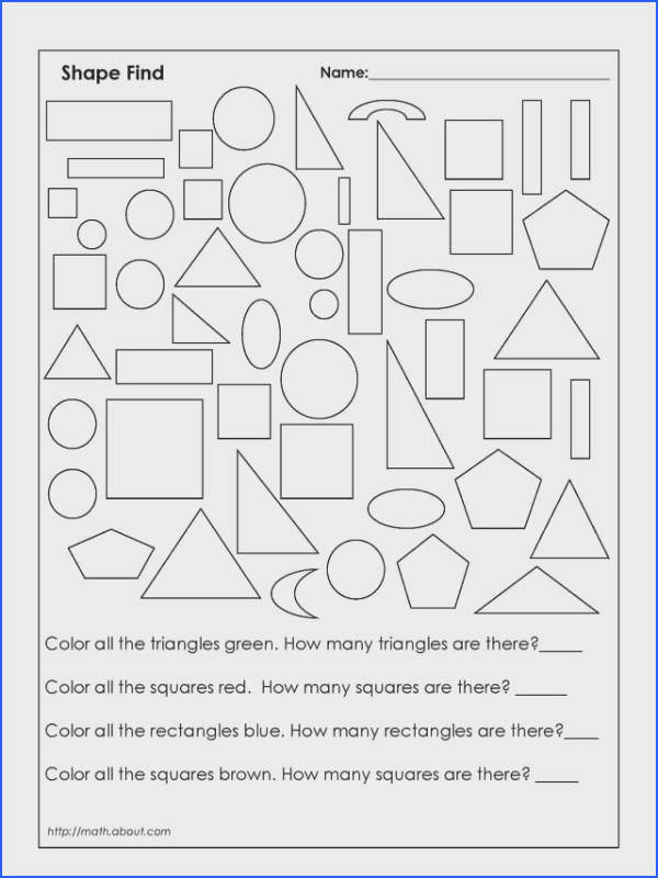 1st Grade Geometry Worksheets for Students First Grade Math WorksheetsGeometry 2nd