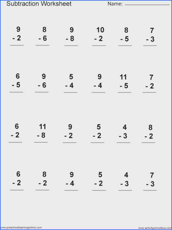 1St Grade Math Worksheets Subtraction Worksheets for all Download and Worksheets