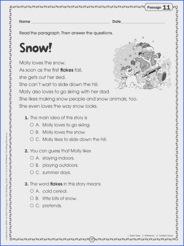 1st Grade Reading prehension Worksheets Brilliant Ideas First With Printables Snapshot 1st Grade Reading prehension Worksheets
