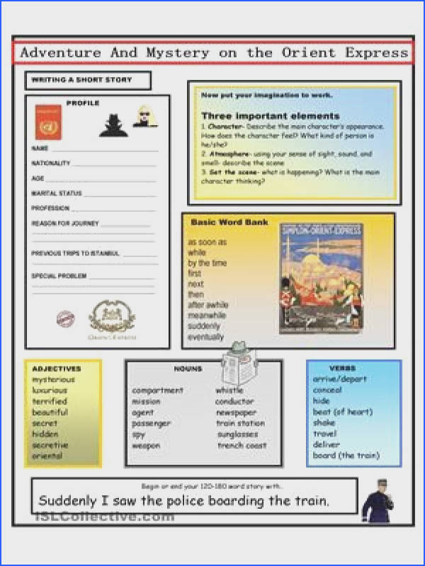 2 page template for writing a short story First create the profile of your character