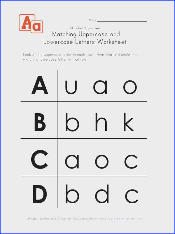 Letter Worksheets Uppercase and Lowercase A B C and D