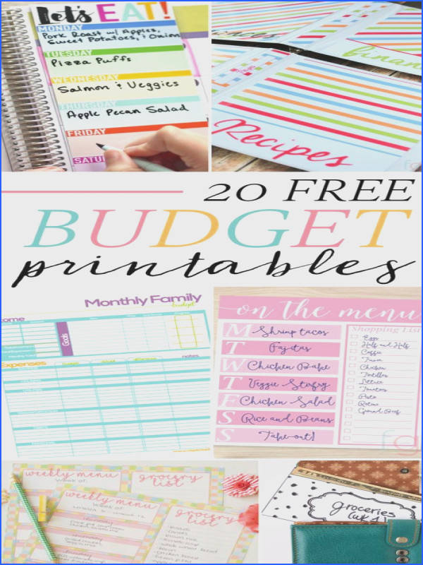 20 Free Bud Printables to make sticking to your bud ing goals easier Featuring meal planners bud worksheets binder covers cash envelope