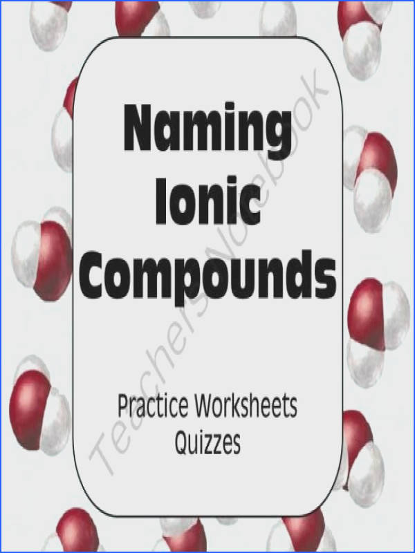 Chemical Nomenclature Naming Ionic pounds from AwesomeScience on TeachersNotebook 20 pages